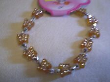 Orange Butterfly Bead Bracelet - PH63