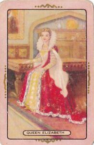 "Coles Swap Card - ""Queen Elizabeth"" gold trim"