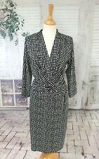 HOBBS Black & white stretch fit dress size 14