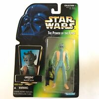 Star Wars Power of the Force Greedo w/ Blaster Kenner 1996 POTF Action Figure
