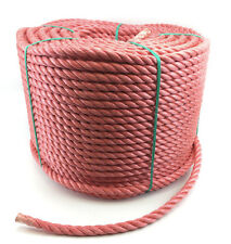 10mm Red Polypropylene Rope x 40 Metres, Poly Rope Coils, Cheap Nylon Rope