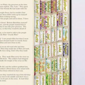 66 Bible Book Tabs & 72 Blank Tabs-Bible Tabs - Laminated, Large Print