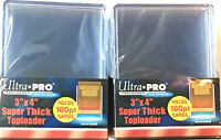 (20) Ultra Pro Thick 180pt Toploaders Super thick Topload Card Holders 3x4 MLB