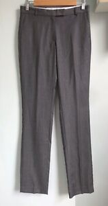 "JOSEPH Grey Pure Wool Slim Leg Trousers FR 34 UK 6 8 Pockets 34""L New Career"