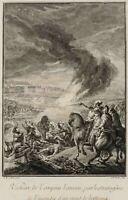 P.TARDIEU (*1711), Der Sieg des Tarquinius, Letzter König von Rom, Kupferst.