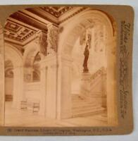 Stereoview Underwood Grand Staircase Library Of Congress Washington DC USA (O)