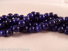 NATURAL LAPIS LAZULI BLUE LOOSE GEMSTONE ROUND STONE JEWELLERY MAKING BEADS 10mm