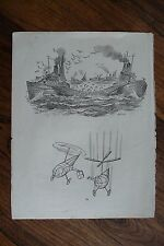 'PICK OF PUNCH 'AUTHENTIC VINTAGE 1956 PRINTED DOUBLE SIDED PAGE HUMOUR - 13