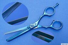 """Forbici per sfoltire Forbici modellanti blu metallizzato ca.5,5"""" Destrorsi"""