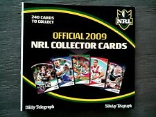 2009 OFFICIAL NRL COLLECTOR TRADING CARDS - COMPLETE WITH FOLDER & 240 CARDS