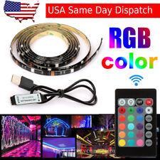 6.6ft USB Powered RGB 5050 LED Strip Lighting for TV Computer Background Light