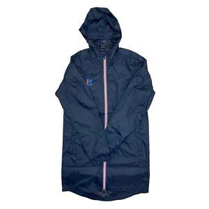 Mens Raincoat Waterproof Hooded Windbreaker Long Length Jacket Zip Lightweight