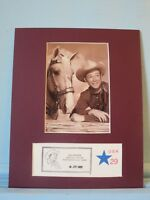 Roy Rogers and Trigger with the Roy Rogers Commemorative Cover