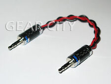 "chf30 15cm 6"" Headphone Amp Aux Silver Cable Carbon Fiber 3.5mm Stereo Jack Plug"