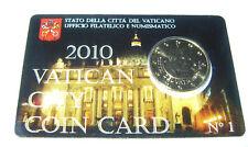 ERSTE original Coincard Vatikan 2010 mit 50 Cent Münze Papst Benedikt AT