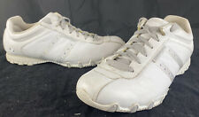 Womens SKECHERS White Silver Athletic Shoes Sneakers SIZE 9
