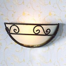 1/12TH SCALE DOLLS HOUSE HALF CIRCLE WALL LAMP