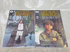 Star Wars Episode 1 Anakin Skywalker & Obi-wan Kenobi Signed Ltd Edition Comics