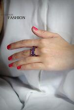 Ring Golden Pink Stainless Steel Lucky Flower Amethyst Original T59 TR1