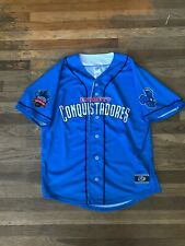 Everett Aquasox Conquistadores Copa Blue Authentic Jersey Large MILB MLB