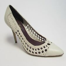 Tracy Reese New York White Wood Heel Shoes NWOB Sz 8.5