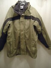 COLUMBIA CORE Interchangeable 3 in 1 Winter JACKET Men's Size Large Gray And Tan