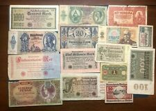 Central Europe banknotes Germany Austria Hungary Czech notgeld  LOT 8