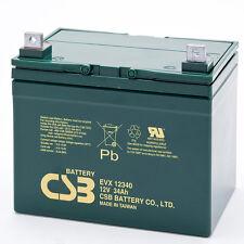 CSB EVX 12340 Cyclic Sealed Lead Acid Battery 12V 34Ah EVX12340 SLA