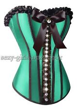 Green Rhinestone CORSET SZ S-2XL Moulin Rouge Delicate  Luxuriant SGND-A3038