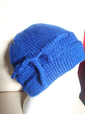 hand made hat,blue,polyester,1 size.