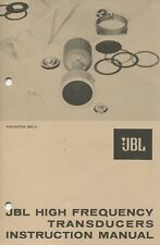 Jbl Hi Frequency Transducers Instruction Manual