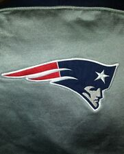 New England Patriots grey Hoodie with sewn patches very nice size adult M