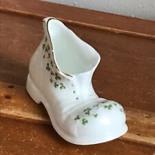 Estate Royal Tara Fine Bone China Made in Galway Ireland Marked Shoe w Green