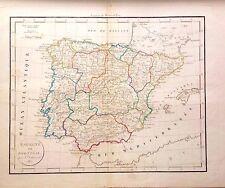 ESPAÑA, Mapa original, Delamarche, 1817