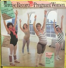 EXERCISE RECORD FOR PREGNANT WOMEN w/ Booklet Columbia 1983 EX 2X LP