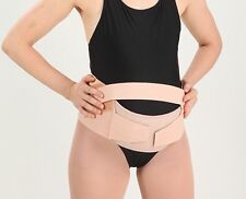 MATERNITY BELT BREATHABLE ABDOMINAL BINDER BACK PELVIC SUPPORT PREGNANT Beige OS