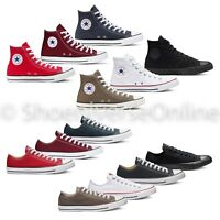 Unisex Converse Chuck Taylor All Star Classic High Top Low Top Canvas Trainers