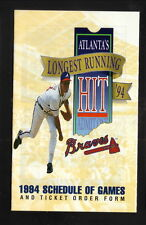 Greg Maddux--Atlanta Braves--1994 Pocket Schedule--Nalley Automotive