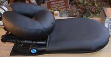 EARTHLITE Home Massage Kit - Deluxe Adjustable Black Headrest & Face Pillow