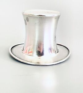 Vintage Reed and Barton Sterling Silver Top Hat Toothpick/Cigarette Holder
