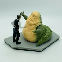 Vtg Star Wars Han Solo Jabba The Hutt Jumbo PVC Figurine Statue Applause 1997