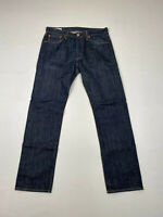 LEVI'S 501 STRAIGHT Jeans - W32 L32 - Navy - Great Condition - Men's