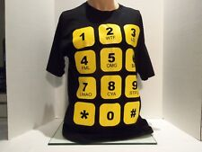 CELL PHONE TEXTING NUMBERS(SAYINGS) (LOL)(WTF)LMAO) T-SHIRT(LARGE)BLACK- RARE