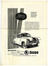 publicité ancienne des voitures Skoda 1200 / Automobile / 26x34cm / FN4