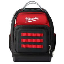 "Milwaukee 15"" Ultimate Jobsite Backpack Tool Bag Organizer 48 Storage Pockets"