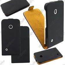 Accessoire Housse Etui Coque Rabatable Flip PU Cuir Noir Nokia Lumia 530 +Film