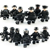 12pcs/set Military Special SWAT Police Building Bricks Figures Educational Toys