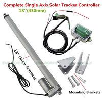1KW Solar Tracking Sun Tracker System &12V Linear Actuator &Light Sensor &Remote