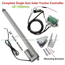 "Single Axis Solar Tracker Kit Sunlight Track-18"" Linear Actuator & Light Sensor"