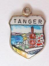 Tanger , Tangier , Morocco  vintage Silver  Enamel Travel Charm